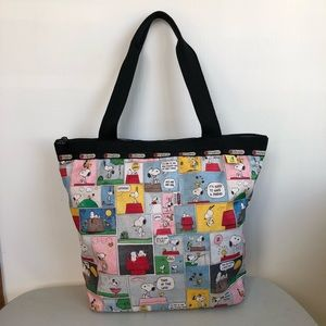Lesportsac Snoopy Patchwork Hailey Tote / Shopper